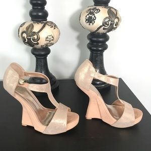 Nude wedges 6.5